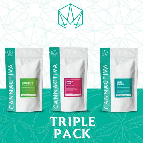 Triple Pack Flores de CBD Cannactiva